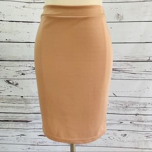 Soft Pink pencil skirt stretchy